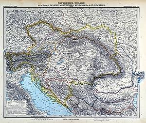 """ÖSTERREICH und UNGARN. - Karte. """"Österreich-Ungarn. Rumänien, Serbien, ..."""