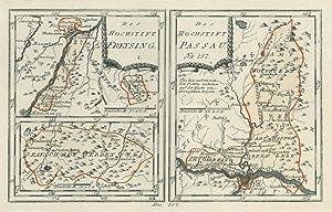 """FREISING. - Karte. """"Das Hochstift Freysing"""", darunter"""