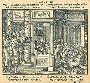 """JESUS. - Tempelreinigung. """"Christus treibt die Verkäufer aus dem Tempel"""" (Andresen)...."""