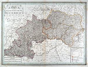 """ÖSTERREICH. - Karte. """"Charte von dem Erzherzogthume Oesterreich ob- und unter der Ens&..."""