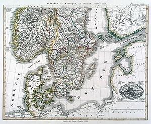 Karte Skandinavien.Skandinavien Karte