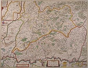 """BERG (Herzogtum). - Karte. """"Berge Ducatus Marck Comitatus""""."""