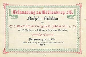 ROTHENBURG/o.d. Tauber. - Erinnerung an Rothenburg o.T. Fünfzehn Ansichten der merkw&uuml...