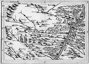 BERGZABERN. - Karte. Karte des Gebietes westlich