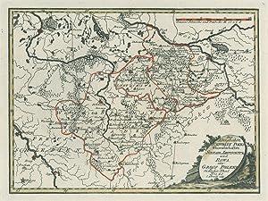 """POLEN. - Karte. """"Der königlichen Republik Polen"""
