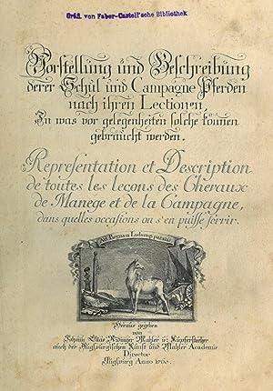 PFERDE. - Reitschule. - Ridinger, Johann Elias.