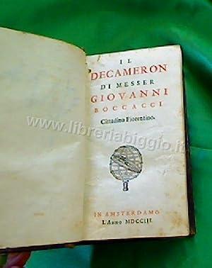Il Decameron di Messer Giovanni Boccacci Cittadino: Boccaccio Giovanni