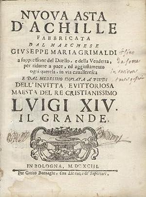 Nuova asta d'Achille fabbricata dal Marchese Giuseppe: Grimaldi Giuseppe Maria