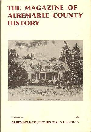THE MAGAZINE OF ALBEMARLE COUNTY HISTORY Volume: Twohig, Dorthy &