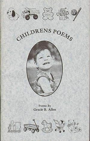CHILDRENS POEMS: Allen, Gracie B.