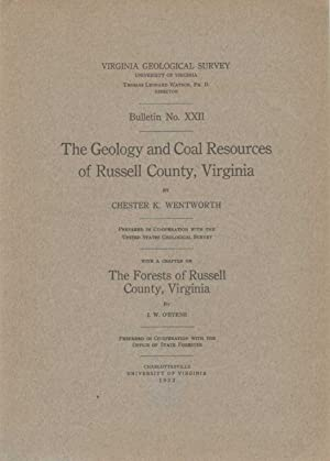 THE GEOLOGY AND COAL RESOURCES OF RUSSELL: Wentworth, Chester Keeler