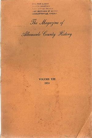 THE MAGAZINE OF ALBEMARLE COUNTY HISTORY Volume: Stokes, William E.