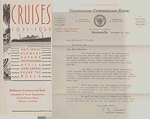 CRUISES 1931 - 1932 West Indies Bermuda Havana Mediterranean Africa South America Round the World: ...