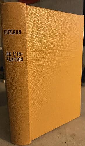 Ciceron: Les Deux Livres sur la Rhetorique (Appeles de L'Invention): Cicero