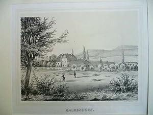 Halbendorf bei Löbau. Lithographie mit Tonplatte.