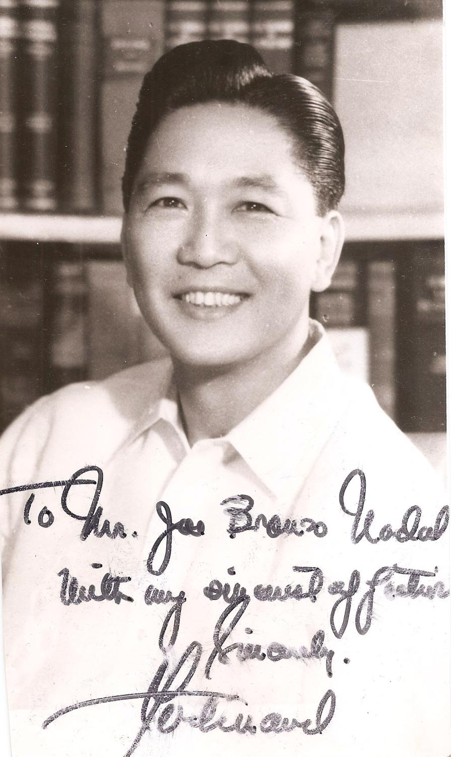 Signed photograph of ferdinand marcos by marcos ferdinand - Marcos catalan ...