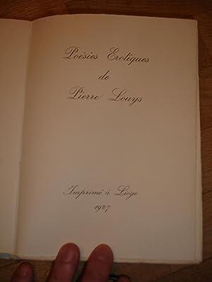 Poésies érotiques de Pierre Louys: Louys, Pierre