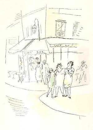 3 petites filles dans la rue (trois).: Warnod, Andre (illustrated