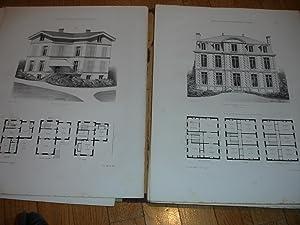 Maisons de campagne des environs de Paris. Choix des plus remarquables maisons bourgeoises, ...
