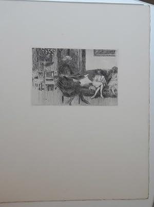 Tombeau de Edouard Vuillard par Jean Giraudoux, avec 5 gravures originales a l'eau-forte: ...