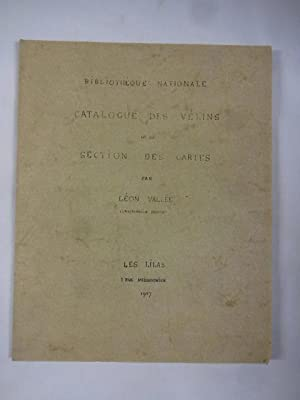 Bibliothèque Nationale: Catalogue des vélins de la section des cartes