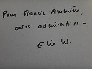 Le chant des morts (Francis Ambrière association copy): Wiesel, Elie (Francis Ambrière ...