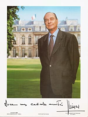 Signed photograph of Jacques Chirac / Photographie signée