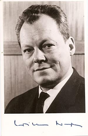 Signed photograph of Willy Brandt