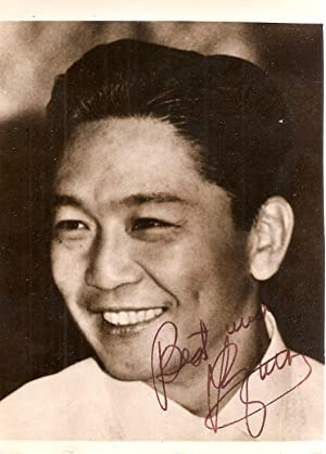 Signed photograph of Ferdinand Marcos
