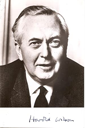 Signed photograph of Harold Wilson