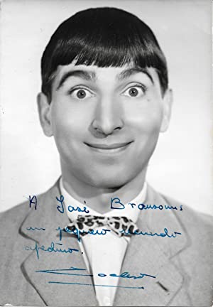 Signed photograph of Manolo Codeso (Manuel Codeso Ruiz, Spanish comic actor)