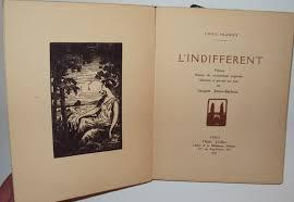 L'indifferent. Poemes illustres de compositions originales dessinees et gravees sur bois par ...
