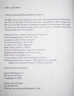 Michael Phelps: Beneath The Surface (extremely rare HANDSIGNED 1st ptg. + COA + Event flyer): ...