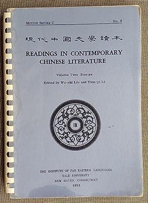 Readings in Contemporary Chinese Literature. Volume Two: Liu, Wu-chi; Li,
