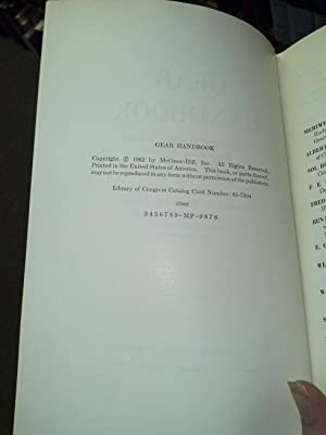 Gear Handbook: The Design, Manufacture and Application of Gears. 1st ed.: dudley, darle w