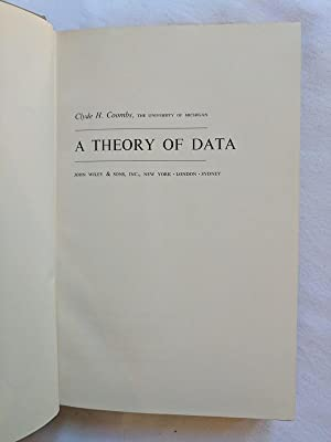 A Theory of Data: coombs, clyde h