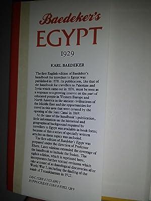 Baedeker's Egypt 1929: Karl Baedeker (Firm)