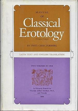 Manujal of Classical Erotology (De figuris Veneris),: Forberg, Fred. Chas.