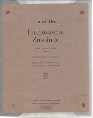 Französische Zustände - Artikel IX vom 25.: Heine, Heinrich