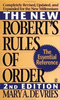 The New Robert's Rules of Order.