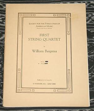First String Quartet.: Bergsma, William.