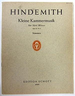Kleine Kammermusik für fünf Bläser, Opus 24: Hindemith, Paul