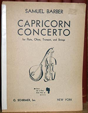 Capricorn Concerto for Flute, Oboe, Trumpet, and Strings, Op. 21.: Barber, Samuel