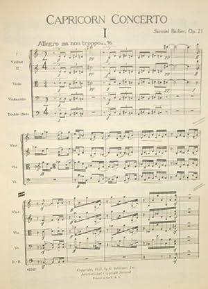Capricorn Concerto for Flute, Oboe, Trumpet, and Strings, Op. 21.: Barber, Samuel