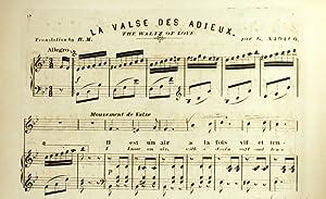 La Valse des Adieux: Nadaud, G. [Gustave Nadaud, 1820-1893]