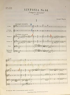 Sinfonia Nr. 64. ''Tempora Mutantur,'' Herausgegen von H.C. Robbins Landon, ...