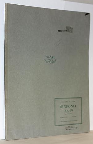 Sinfonia Nr. 69. ''Laudon',' Herausgegen von H.C. Robbins Landon, Partitur: ...