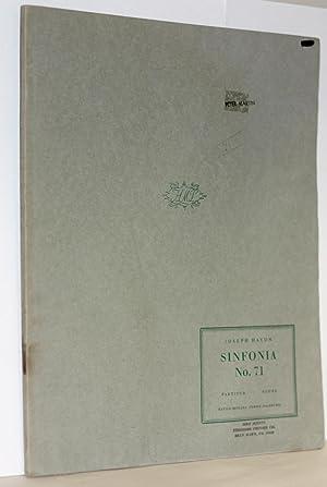 Sinfonia Nr. 71. Herausgegen von H.C. Robbins Landon, Partitur: Haydn, Joseph