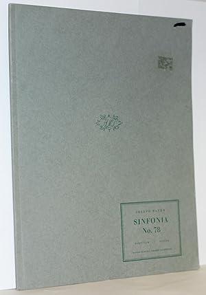 Sinfonia Nr. 78. Herausgegen von H.C. Robbins Landon, Partitur: Haydn, Joseph