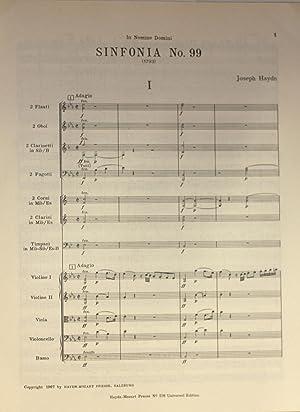 Sinfonia Nr. 99. Herausgegen von H.C. Robbins Landon, Partitur: Haydn, Joseph